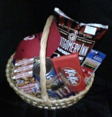The University of Cincinnati Bearcat Fan Basket